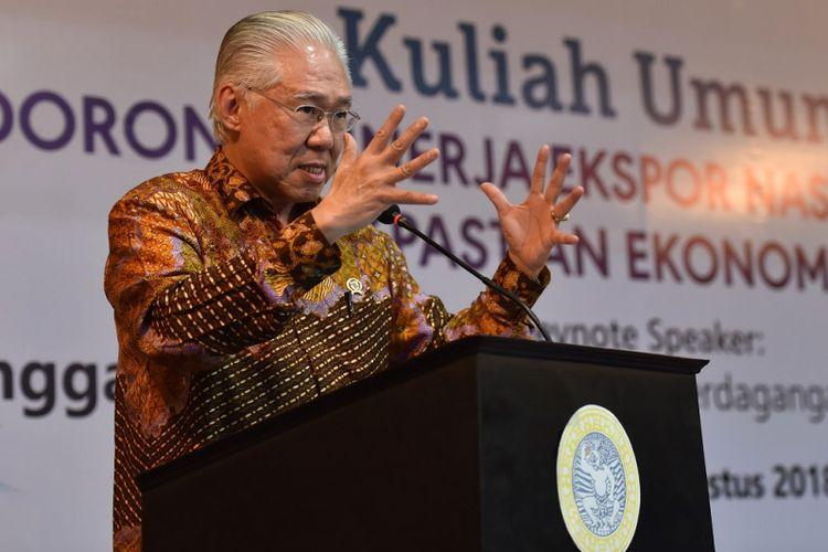 Menteri Perdagangan Enggartiasto Lukito memrediksi, dampak langsung perang dagang AS-China terhadap Indonesia dalam jangka pendek relatif kecil.