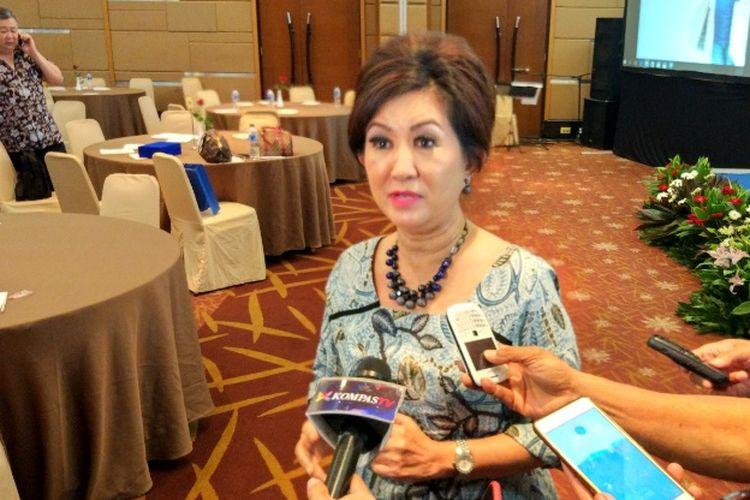 Ketua Asosiasi Pengelola Pusat Belanja Indonesia (APPBI) DPD DKI Jakarta Ellen Hidayah di Hotel Santika, Jakarta, Selasa (29/5/2017).