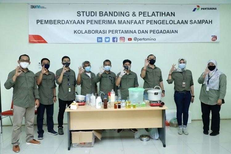 Kegiatan studi banding dan pelatihan pengelola bank sampah yang menjadi mitra binaan Pertamina dan Pegadaian (Dok. Pertamina)