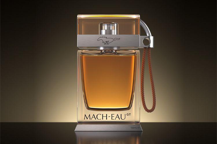 Aroma Mach-Eau akan mengingatkan setiap orang pada bensin yang mengandung almondy benzaldehida (bau yang terkait interior mobil), serta para-Cresol atau bau ban mobil berbahan karet.