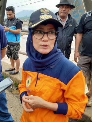 Banjir Bandang menerjang lima kecamatan di Kabupaten Lebak, Rabu (1/1/2020).