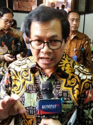 Sekretaris Kabinet Pramono Anung saat ditemui seusai menghadiri acara Dies Natalis Ke-59 ITB di Aula Barat ITB, Jalan Tamansari, Sabtu (3/3/2018).