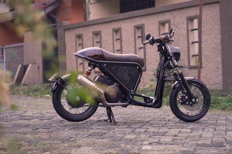 Modifikasi Yamaha Mio Cafe Racer oleh Batakastem.