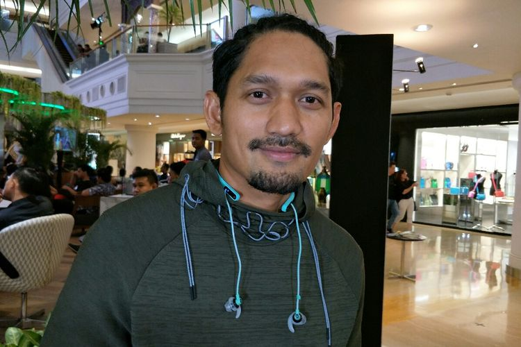 Artis peran dan presenter Ibnu Jamil saat ditemui di Plaza Indonesia,  kawasan MH Thamrin,  Jakarta Pusat, Minggu (12/5/2019).