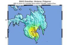 Gempa Hari Ini: M 6,8 Guncang Mindanao Filipina, Dirasakan Sulawesi