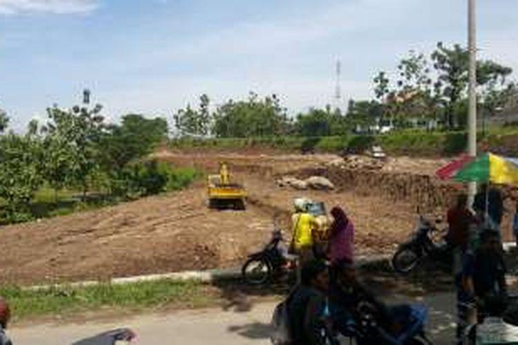 Foto : Inilah lahan yang dibangun ratusan rumah murah bagi TKI dan Eks TKI di Kelurahan Karangrejo, Kecamatan Wungu, Kabupaten Madiun, Selasa ( 20/12/2016).