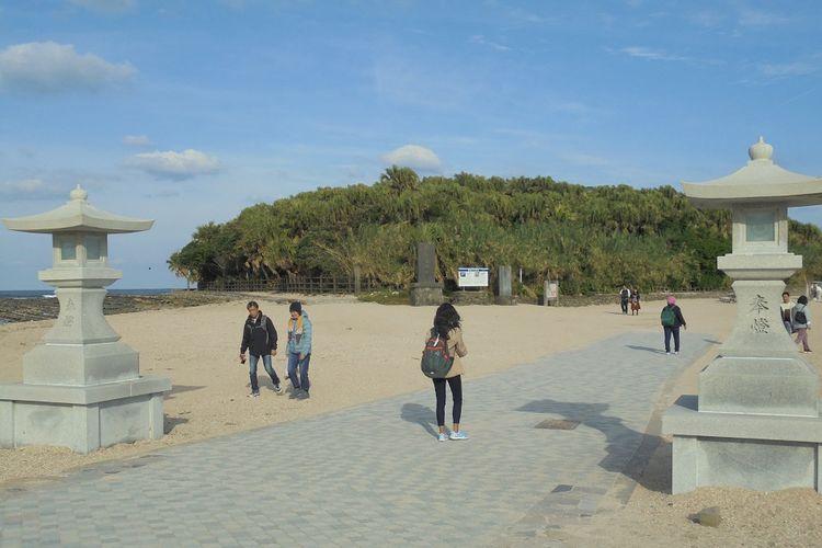 Gerbang masuk dan keluar Pulau Aoshima, Miyazaki, Jepang