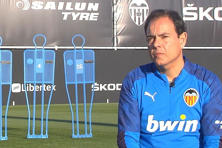 Pelatih kebugaran Valencia CF, Javier Minano.