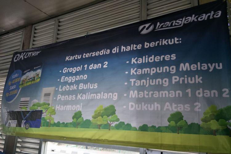 Sepuluh halte transjakarta sudah melayani pembelian kartu One  Karcis One Trip (OK Otrip).