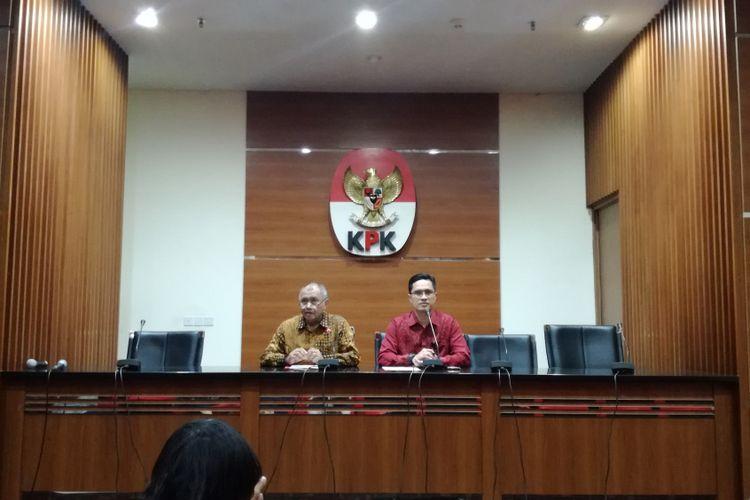 Ketua KPK Agus Rahardjo dan Juru Bicara KPK Febri Diansyah