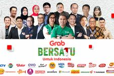 """Serukan Kampanye """"Bersatu untuk Indonesia"""", Grab Didukung 23 Brand Ternama Indonesia"""