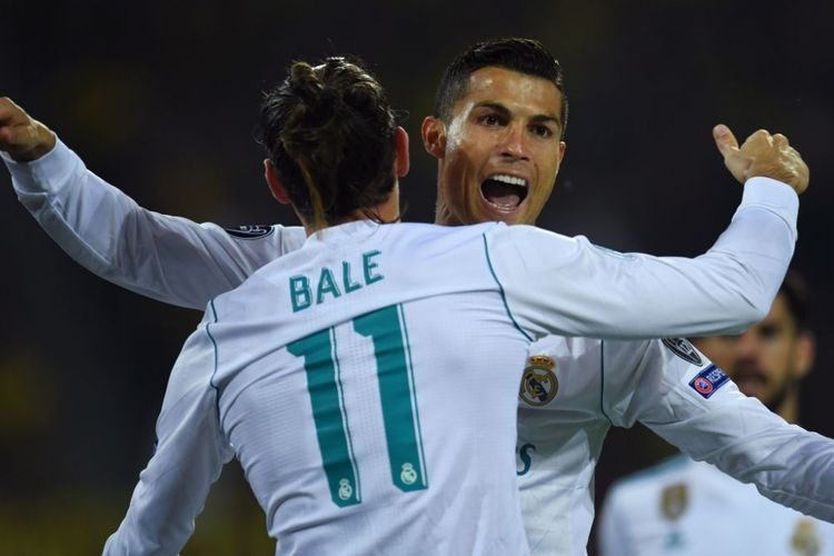 Gareth Bale dan Cristiano Ronaldo menjadi bintang kemenangan Real Madrid di markas Borussia Dortmund pada pertandingan Liga Champions di Signal Iduna Park, Selasa (26/9/2017).