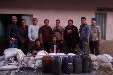 Polisi Gerebek Gudang Pembuatan Bom Ikan di Kalbar