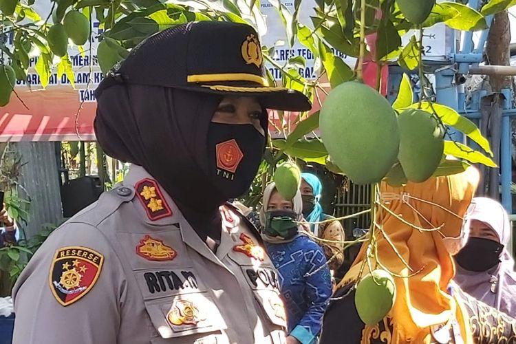 Kapolres Tegal Kota AKBP Rita Wulandari Wibowo.
