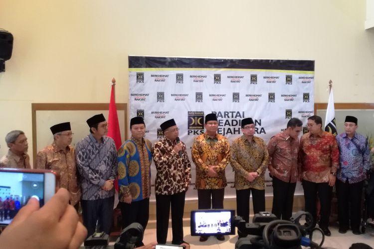 Petinggi Partai Keadilan Sejahtera (PKS) dan Partai Gerindra telah melakukan pertemuan di gedung DPP PKS, Jakarta, Senin (30/7/2018).