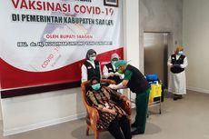 Bupati Sragen Divaksin, Yakinkan Masyarakat Vaksin Halal