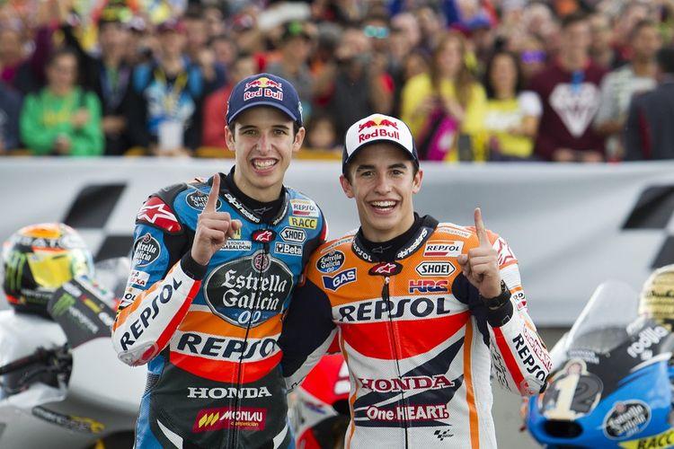 Alex Marquez resmi bergabung dengan Marc Marquez di Repsol Honda Team. AFP PHOTO/ JAIME REINA (Photo by JAIME REINA / AFP)