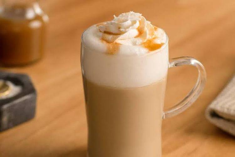 Ilustrasi caramel latte.