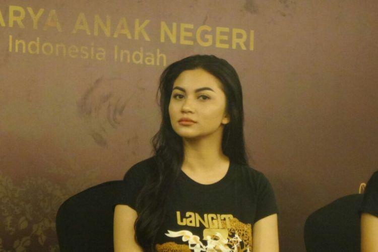 Ariel Tatum menghadiri jumpa pers pertunjukkan teater berjudul Langit 7 Bidadari di Grand Kemang, Jakarta Selatan, Kamis (17/5/2018).
