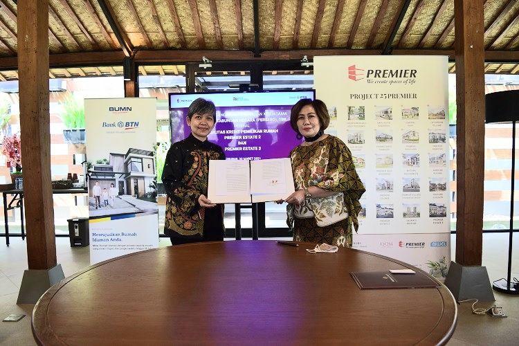 PT Bank Tabungan Negara (Persero) Tbk atau BTN akan mendanai KPR untuk proyek perumahan PT Premier Qualitas Indonesia di kawasan Kranggan dan Kodau, Kota Bekasi, yakni Premier Estate 2 dan 3.