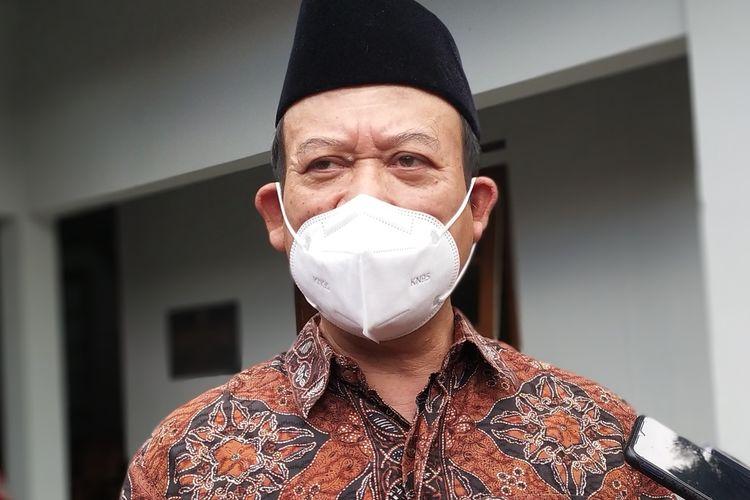 Bupati Banyumas Achmad Husein di kompleks Pendapa Sipanji Purwokerto, Kabupaten Banyumas, Jawa Tengah, Rabu (3/2/2021).