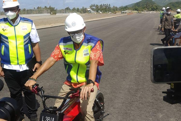 suasana kunjungan Menparekraf ke Sirkuit MotoGP Mandalika Lombok