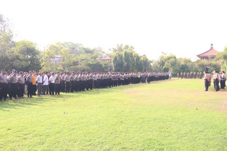 Apel pengamanan pelantikan Jokowi-Maaruf di Denpasar, Bali, Minggu (20/10/2019)