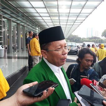Wakil Ketua Tim Kampanye Nasional Joko Widodo-Maruf Amin, Arsul Sani di Kemayoran, Jakarta Pusat, Minggu (21/10/2018).