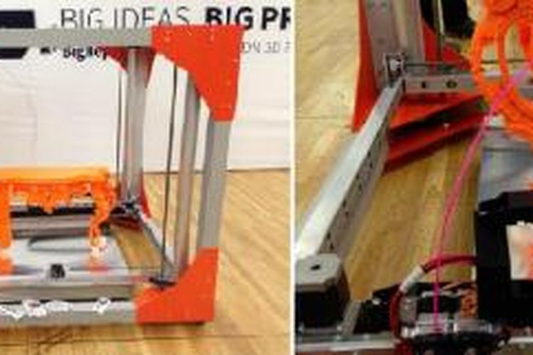 Mesin cetak tiga dimensi BigRep One.