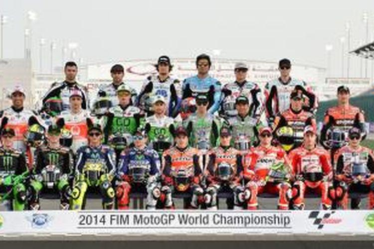 Para pebalap yang akan bersaing pada MotoGP 2014.