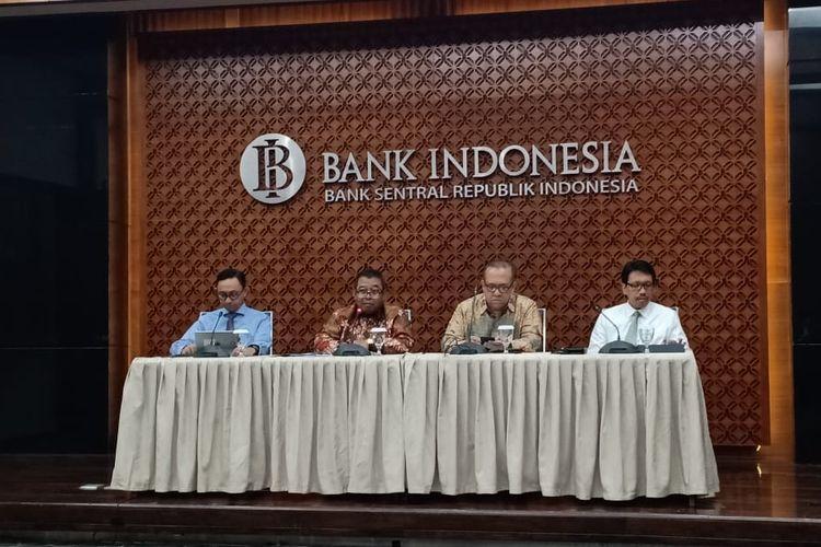 Konferensi pers Indonesia Sharia Economy Festival (ISEF) di Bank Indonesia (BI), Jakarta, Kamis (17/10/2019).