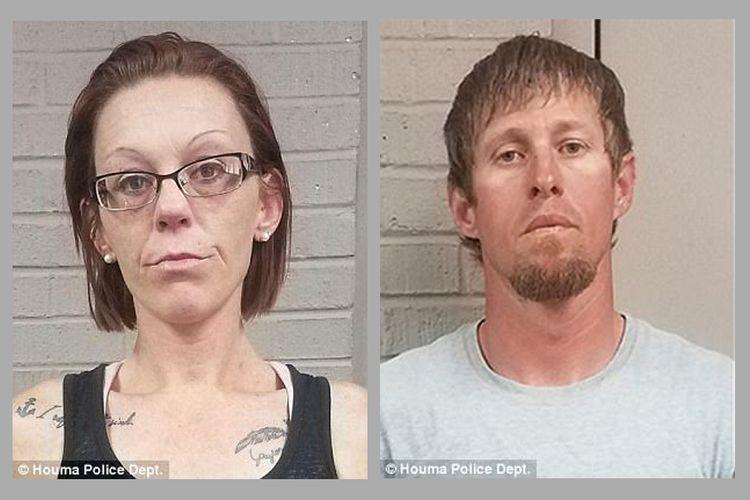 Pasangan suami-istri asal Louisiana, Amerika Serikat Elizabeth (33) dan Rex Jernigan (35) (kiri dan kanan), ditangkap pada hari Kamis setelah merekam adegan seks mereka di sejumlah tempat umum dan menunggahnya ke situs porno.