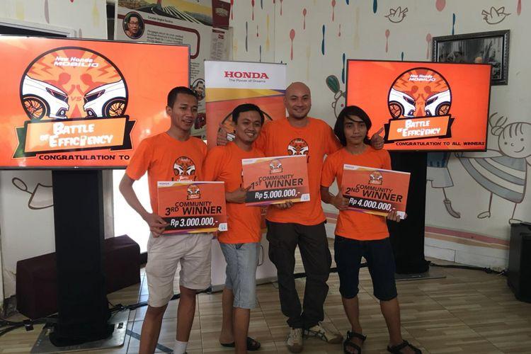 Pemenang Lomba Irit Honda Mobilio