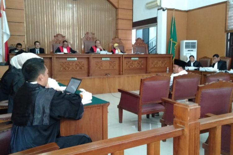 Dahnil Anzar Simanjuntak Bersaksi dalam Sidang Penyebaran Berita Hoax Ratna Sarumpaet di Pengadilan Negeri Jakarta Selatan. Kamis (11/4/2019)