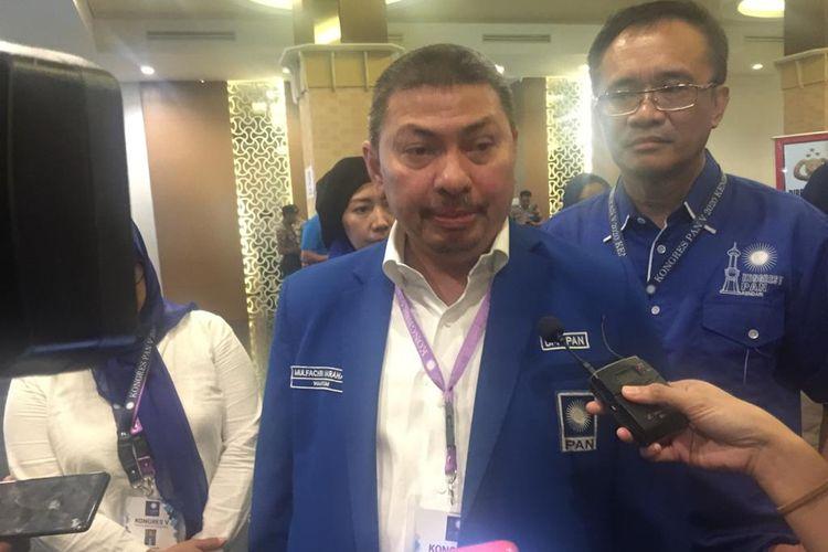 Calon Ketua Umum PAN Mulfachri Harahap di Hotel Claro, Kendari, Selasa (11/2/2020).
