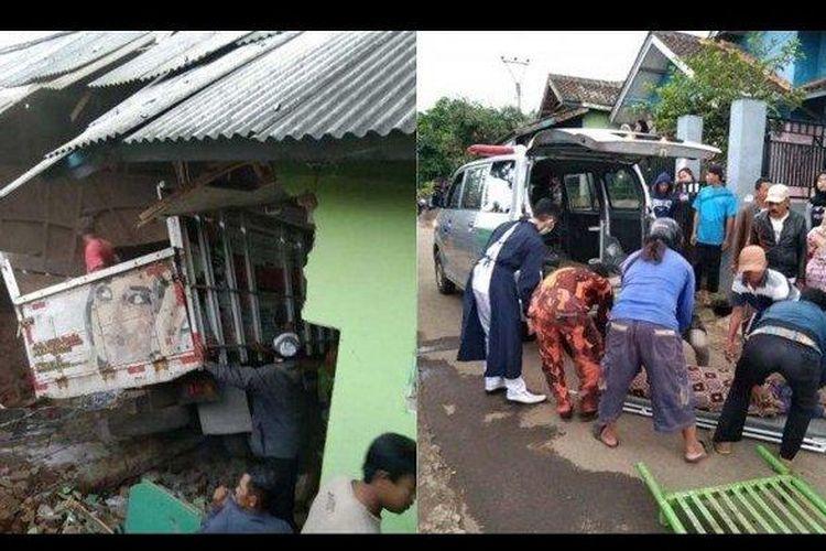 Kecelakaan maut di Garut, tepatnya Kampung Harendong, Desa Sindang Galih, Kecamatan Karangpawitan, Jawa Barat. Adanya sebuah truk seruduk Madrasah, Jumat (2/4/2021).