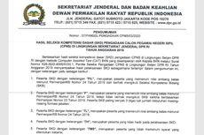 Hasil SKD CPNS Setjen DPR RI Diumumkan, Ini Informasinya!