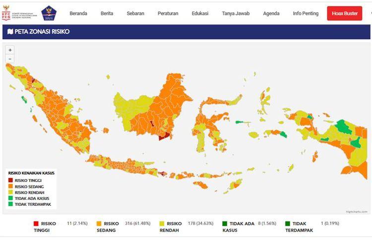 Zona Merah di Indonesia per 11 April.