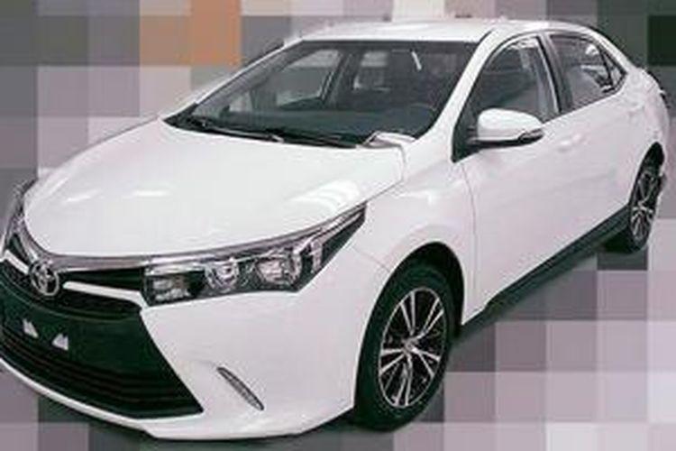 Sosok yang diduga Toyota Corolla Altis sudah bocor di internet.