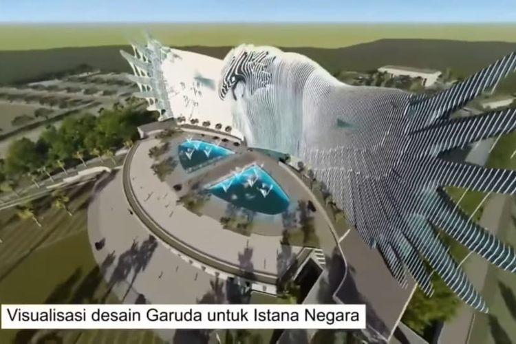 Istana negara di Ibu Kota Baru di Kalimantan Timur