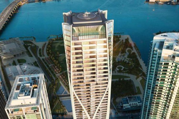 Gedung pencakar langit bernama One Thousand Museum Tower di tengah kota Miami ini akan memiliki tinggi 215 meter atau 60 lantai. Gedung tersebut mampu menampung 83 kondominium yang berukuran antara 501,7m2 hingga 1.021,9m2.