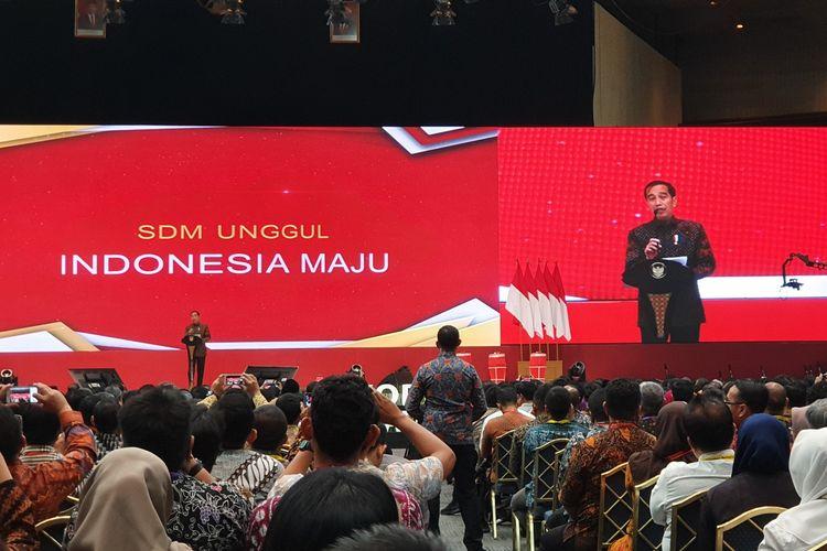 Presiden Jokowi saat membuka Rapat Koordinasi Nasional Pengadaan Barang/Jasa Pemerintah Tahun 2019, Rabu (6/11/2019).
