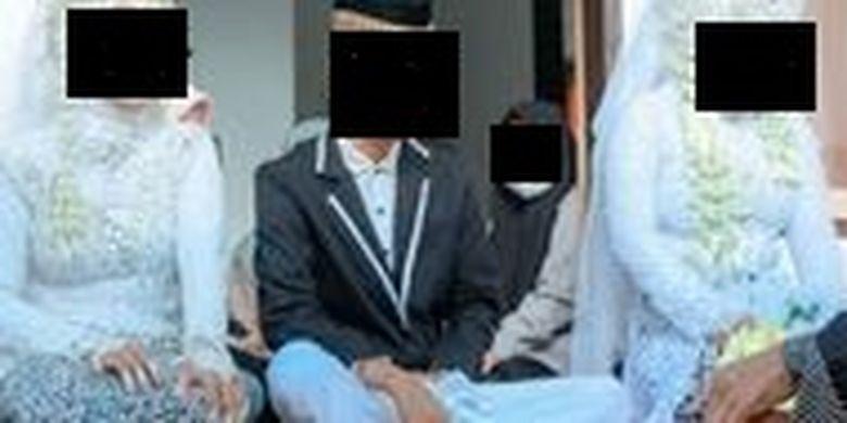 Viral seorang pemuda di Lombok menikahi dua wanita sekaligus