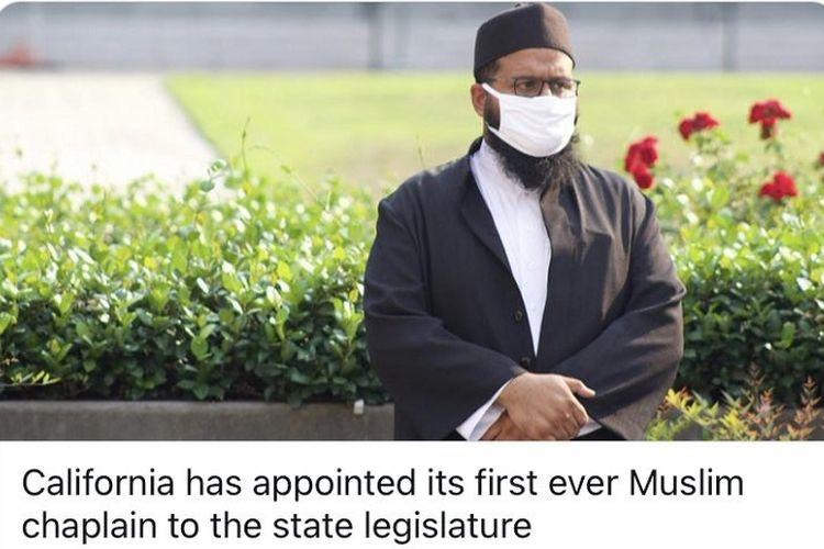 Imam muslim pertama di Badan Legislatif Negara Bagian California, AS.