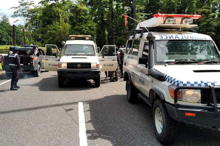 Situasi di Kuala Kencana pasca penembakan yang dilakukan KKB hingga menewaskan seorang WNA,  Senin (30/3/2020)