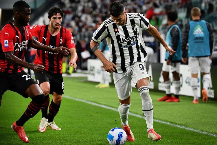 Laga pekan keempat Liga Italia 2021-2022 antara Juventus dan AC Milan di Stadion Allianz, Turin, Senin (20/9/2021) dini hari WIB.