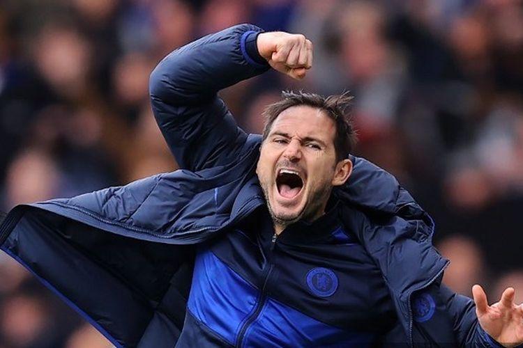 Frank Lampard seusai laga Chelsea vs Tottenham pada pekan ke-27 Liga Inggris 2019-2020.