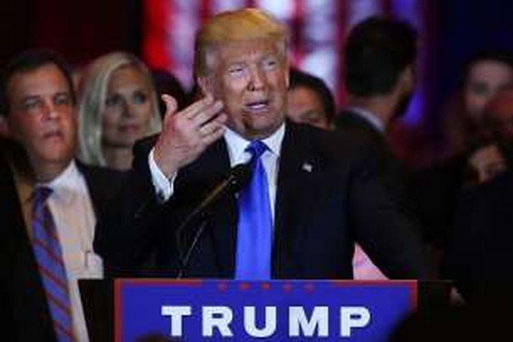 Bakal calon presiden AS dari Partai Republik, Donald Trump.