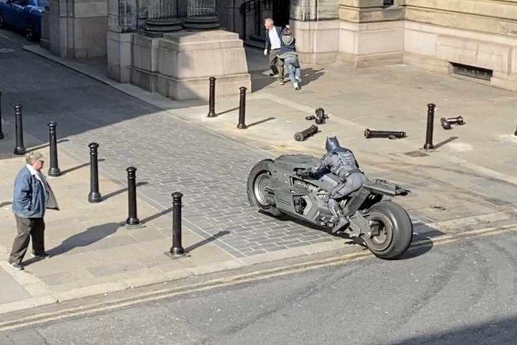 Batcycle yang digunakan oleh Batman pada film terbarunya