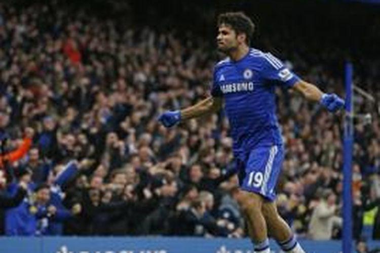 Striker Chelsea asal Spanyol, Diego Costa.